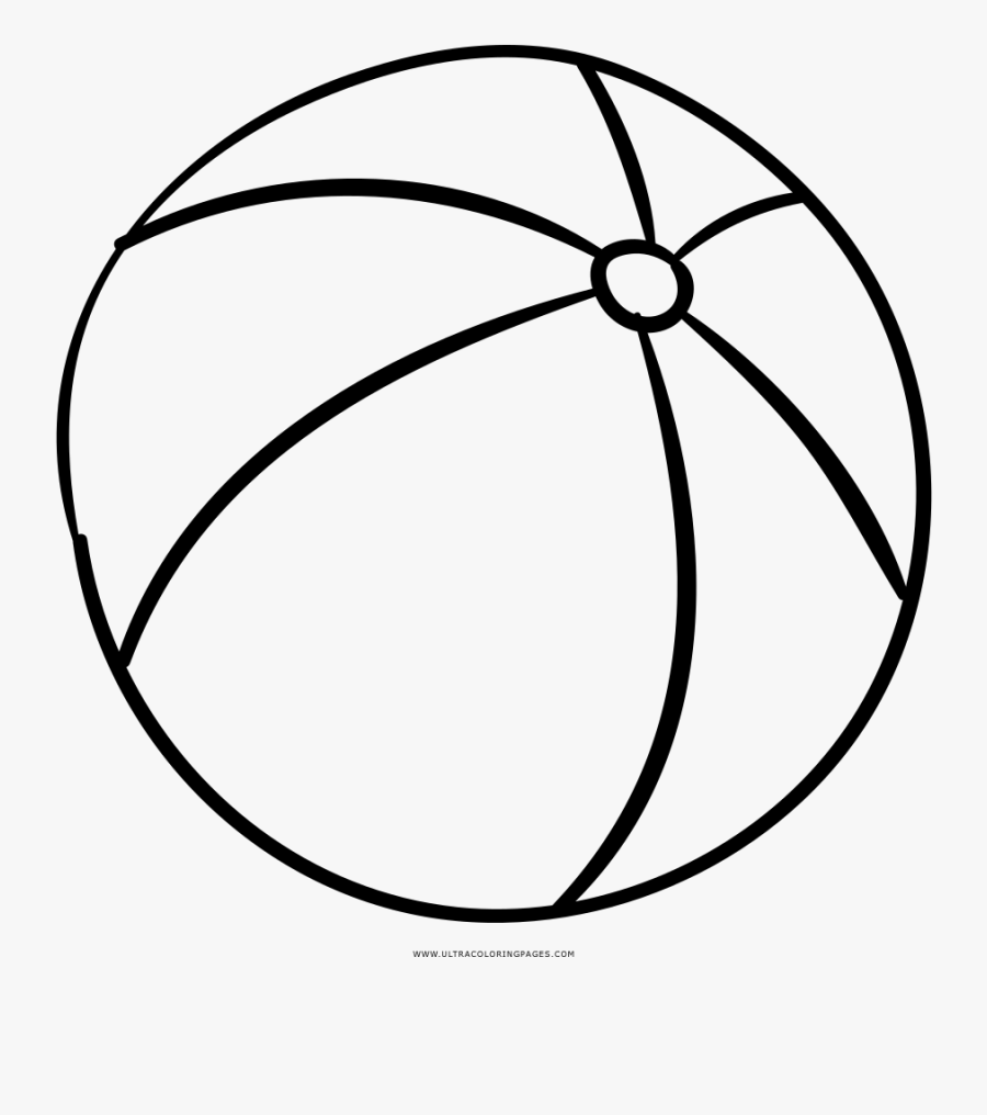 Beach Ball Coloring Page.