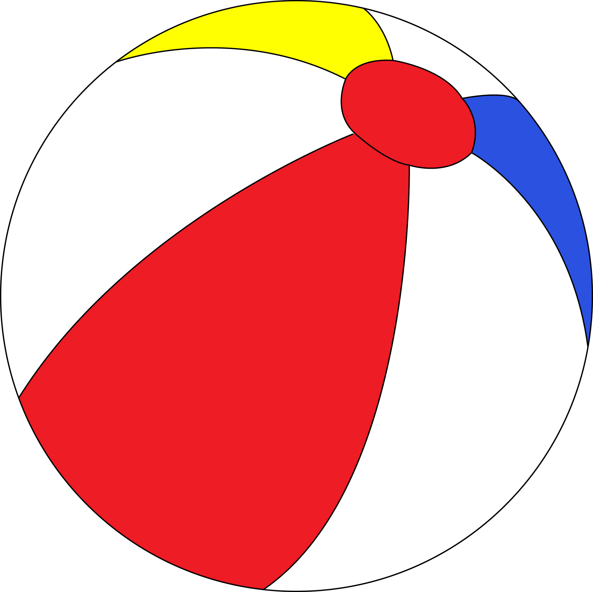 Free beach ball clipart free clip art images 2 image 1 clipartix 4.