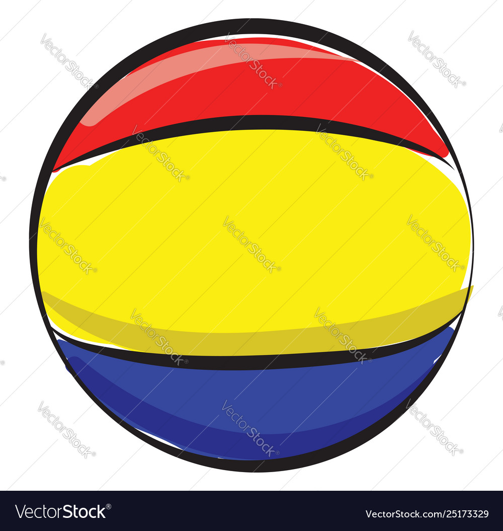 Clipart a colorful beach ball or color.
