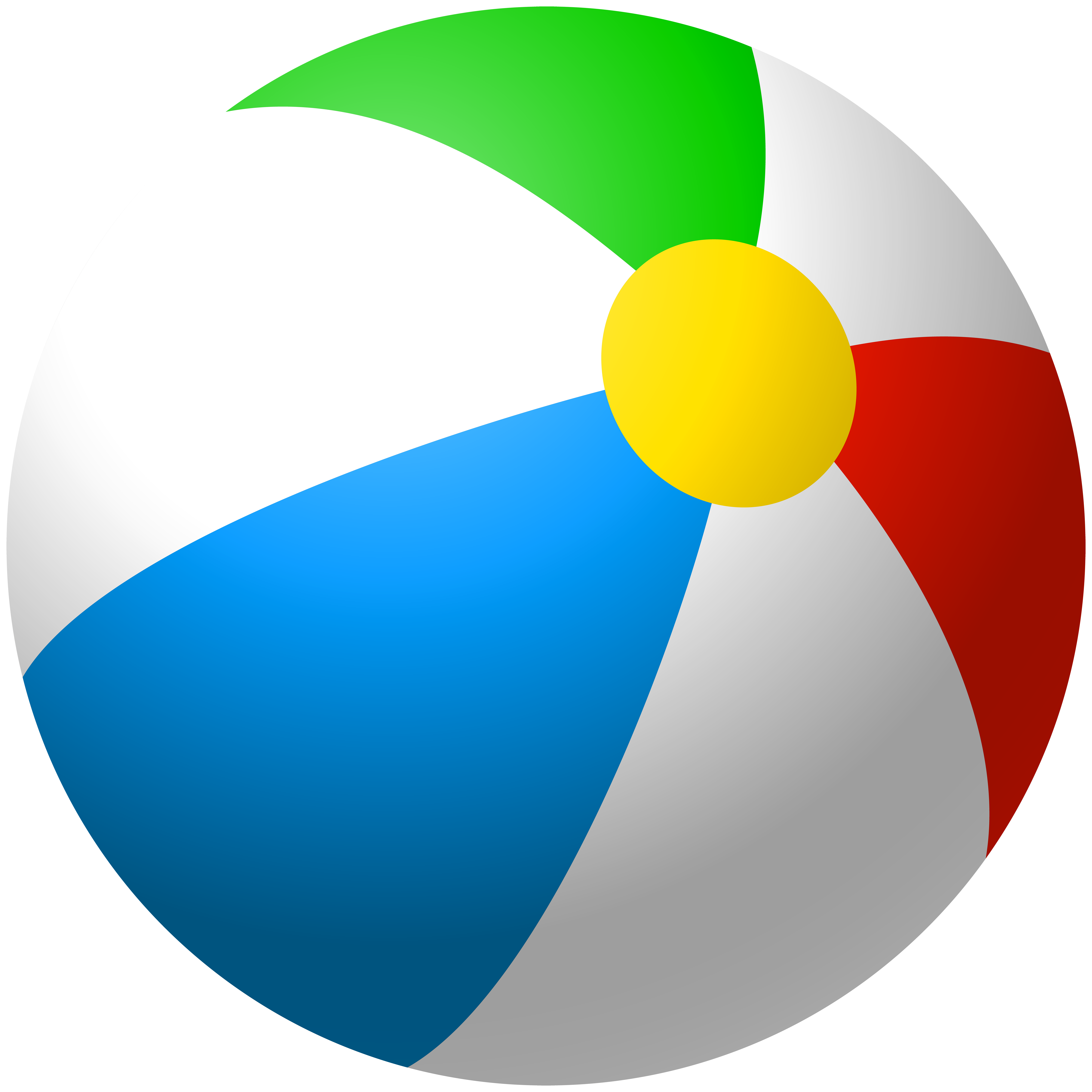 Inflatable Beach Ball PNG Clip Art Image.