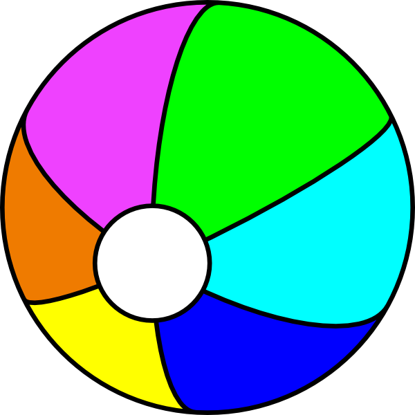 Jbaldus Beach Ball Clip Art at Clker.com.
