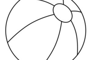 Beach Ball Outline, Coloring Page Beach Ball 260x260px #521.