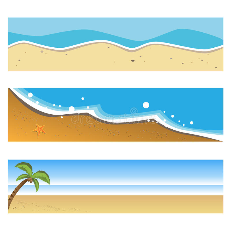 Beach Banners Stock Illustrations.