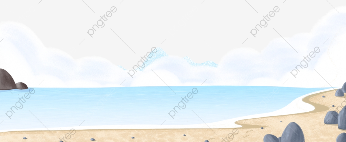 Summer Blue Sea Beach Banner Summer Blue Sea, Beach, Banner, Summer.