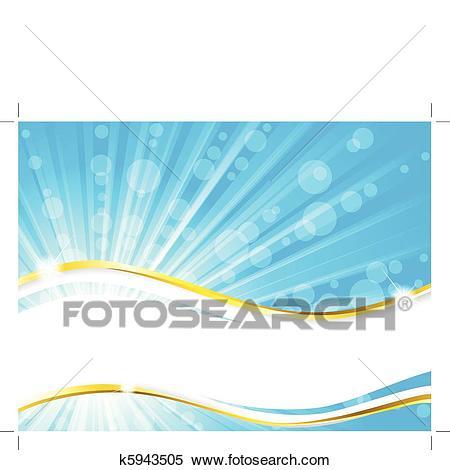 Summertime beach banner Clipart.