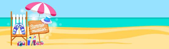 Beach Banner Cliparts.