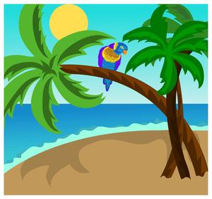 Bird On the Beach Clip Art.