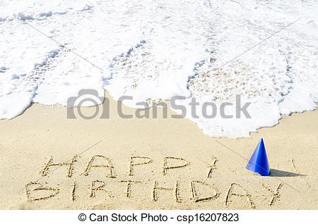 Beach Birthday Clipart.