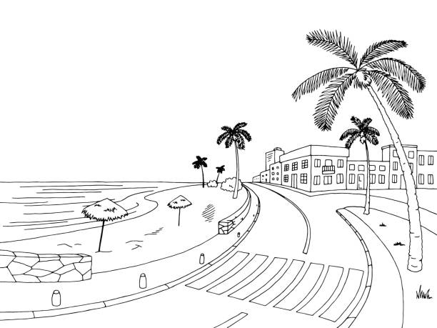 Beach black and white clipart 3 » Clipart Station.