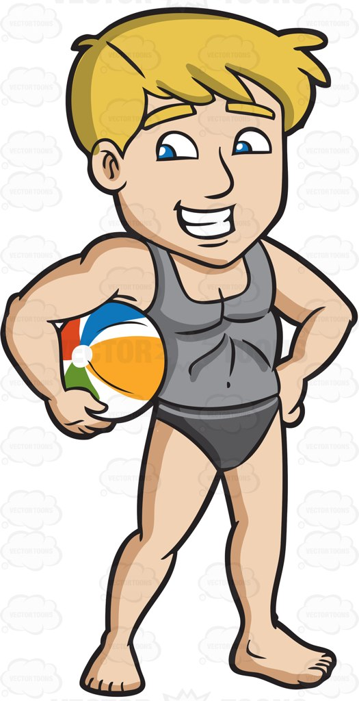 Man On Beach Clipart & Free Clip Art Images #21592.