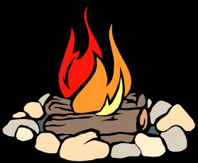 Beach bonfire clipart.