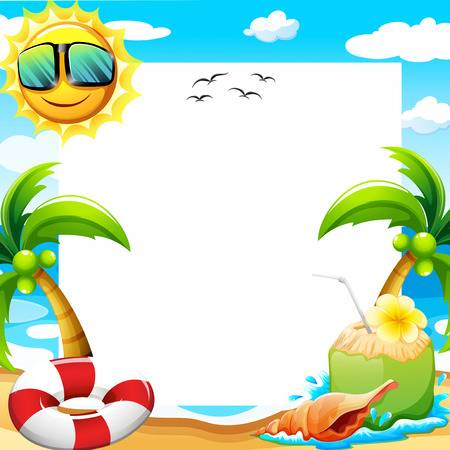 Beach Border Clip Art (95+ images in Collection) Page 2.