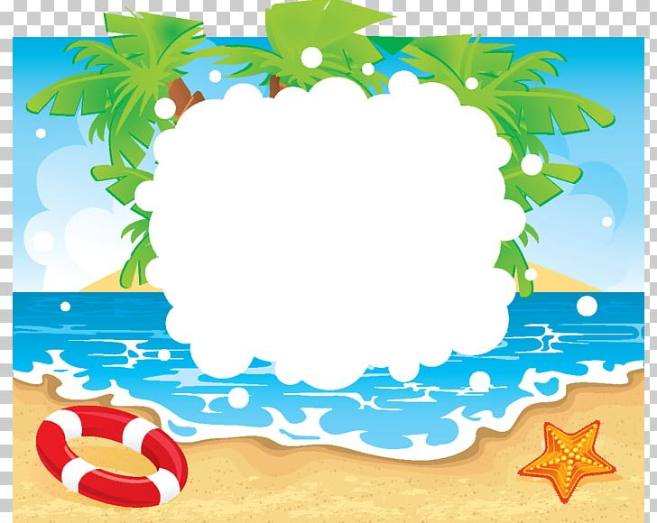 Beach Summer Vacation PNG, Clipart, Area, Art, Border, Border Frame.