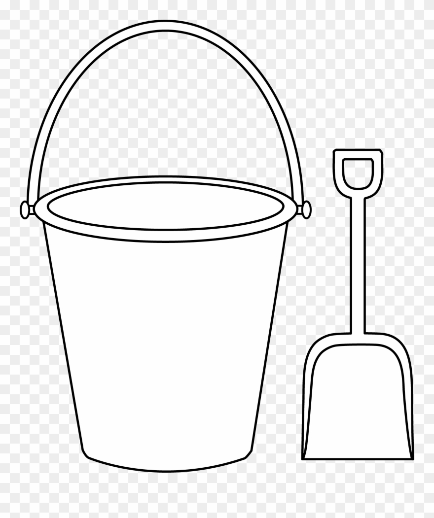 Helpful Bucket And Shovel Coloring Page Kids Colorable.