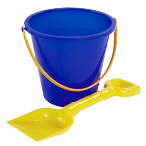 Sand Bucket and Spade transparent PNG.