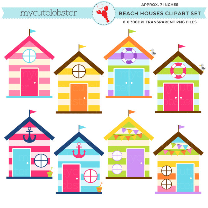 Beach house clip art.