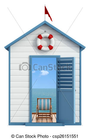 Stock Illustrations of Summer vacation concept.
