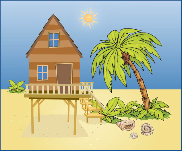 Beach house clip art.