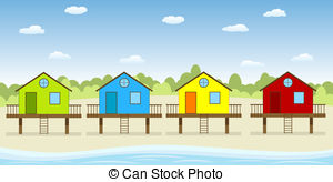 Stilt house clipart clipground for Beach house drawing