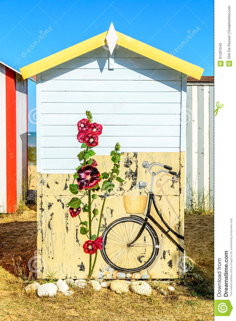 Beach Cabins On Isle De Oleron Editorial Stock Photo.