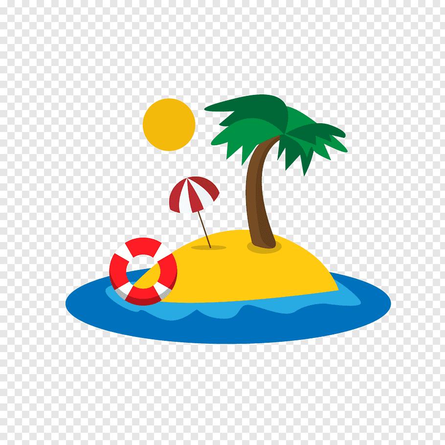 Island illustration, Palm Islands Tropical Islands Resort.
