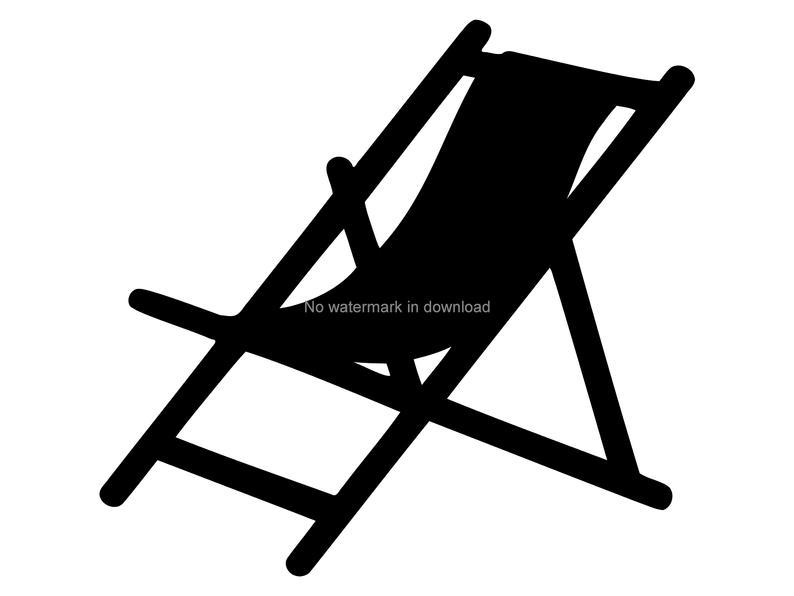 Beach Chair Vinyl Cut File, Beach Chair Clipart Image, Beach Chair Digital  Clip Art, Beach Chair Cut Files.