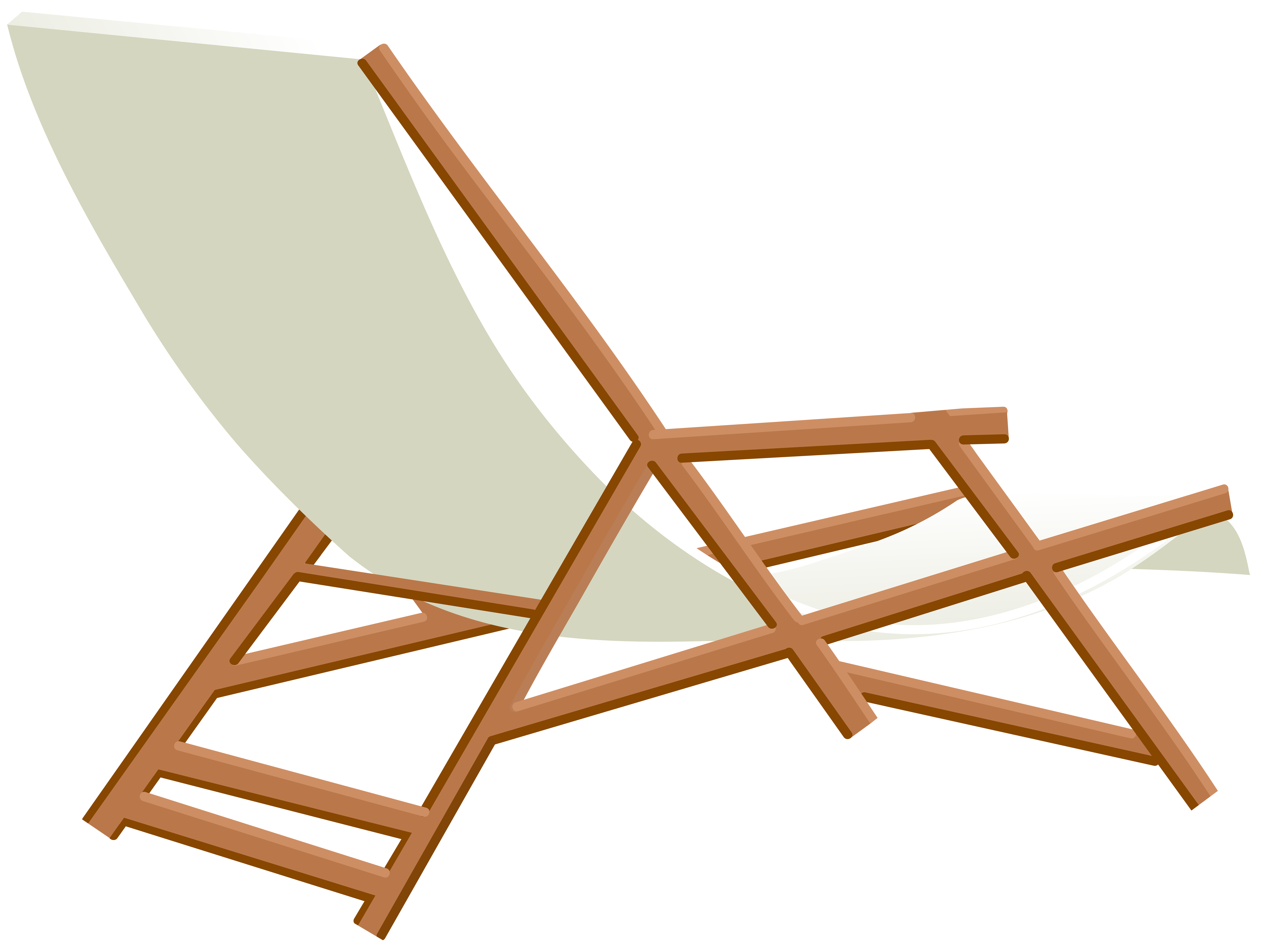 Beach Lounge Chair PNG Clip Art Transparent Image.