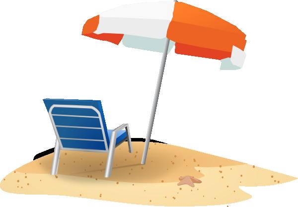 Beach Chair Clipart Black And White.