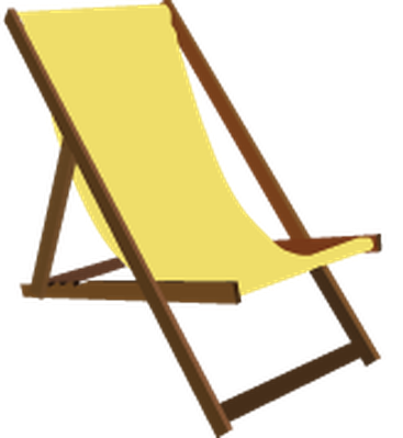 Beach chair clipart transparent.