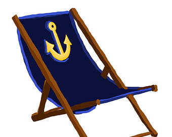 beach chair clip art.