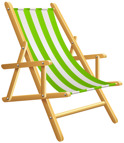 Beach chair clipart #16