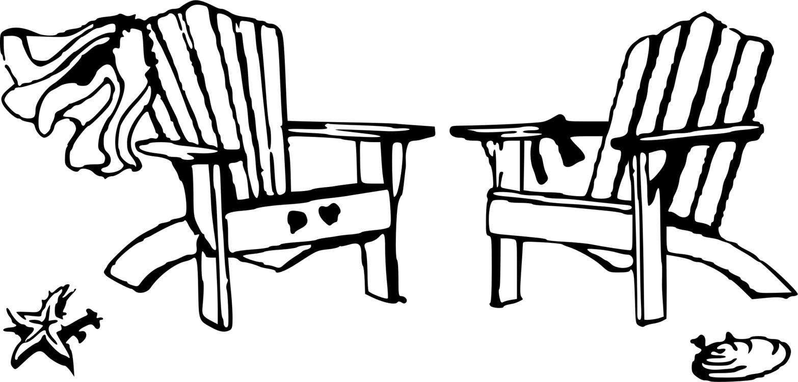 Beach chair clipart black and white 1 » Clipart Portal.