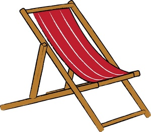 Beach Chair Clipart Black And White.