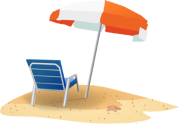 Beach Chair And Umbrella Md.