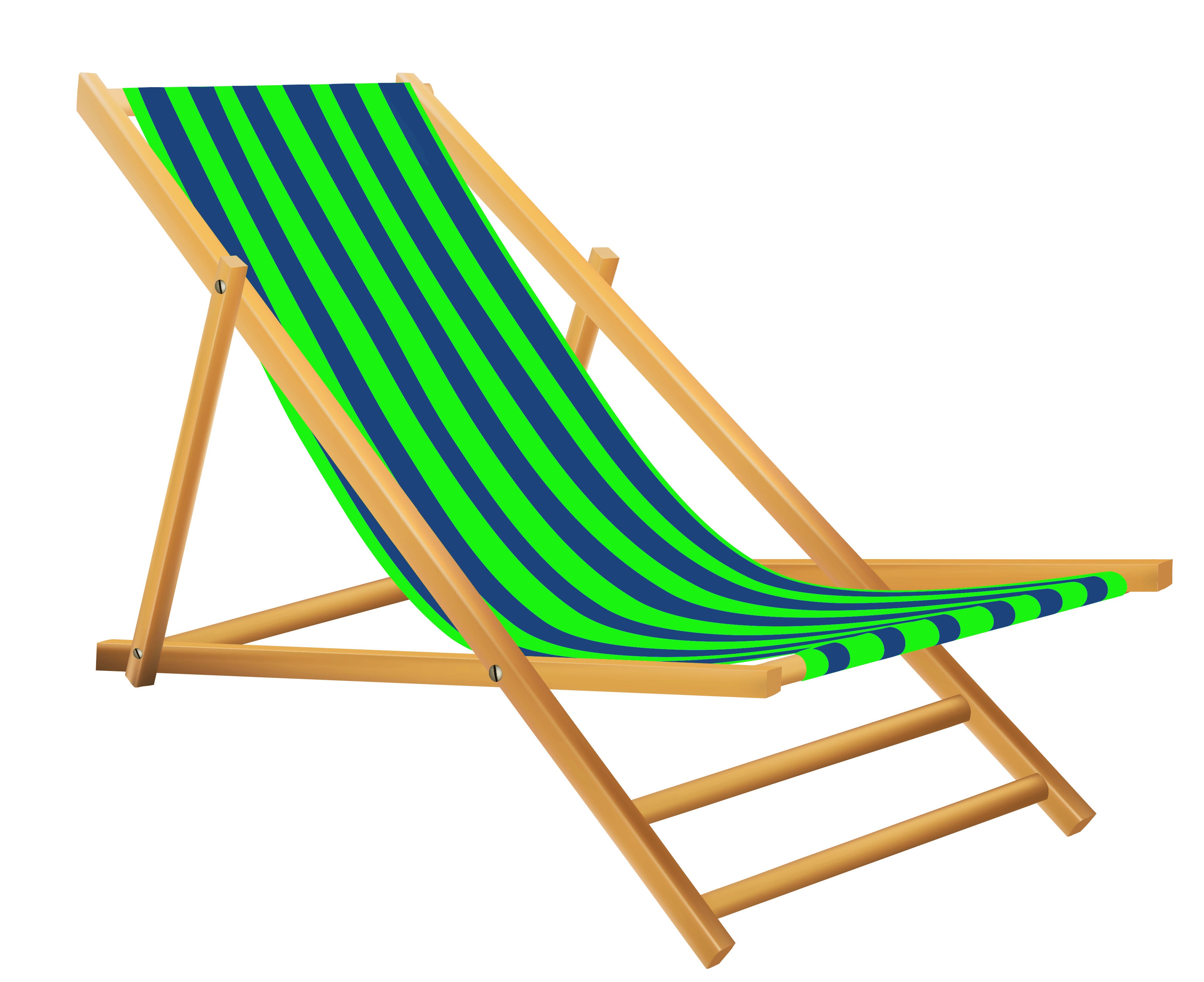 Green Beach Lounge Chair transparent PNG.