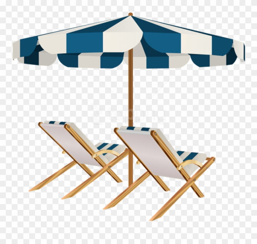 Free Png Download Beach Chairs And Umbrella Clipart.