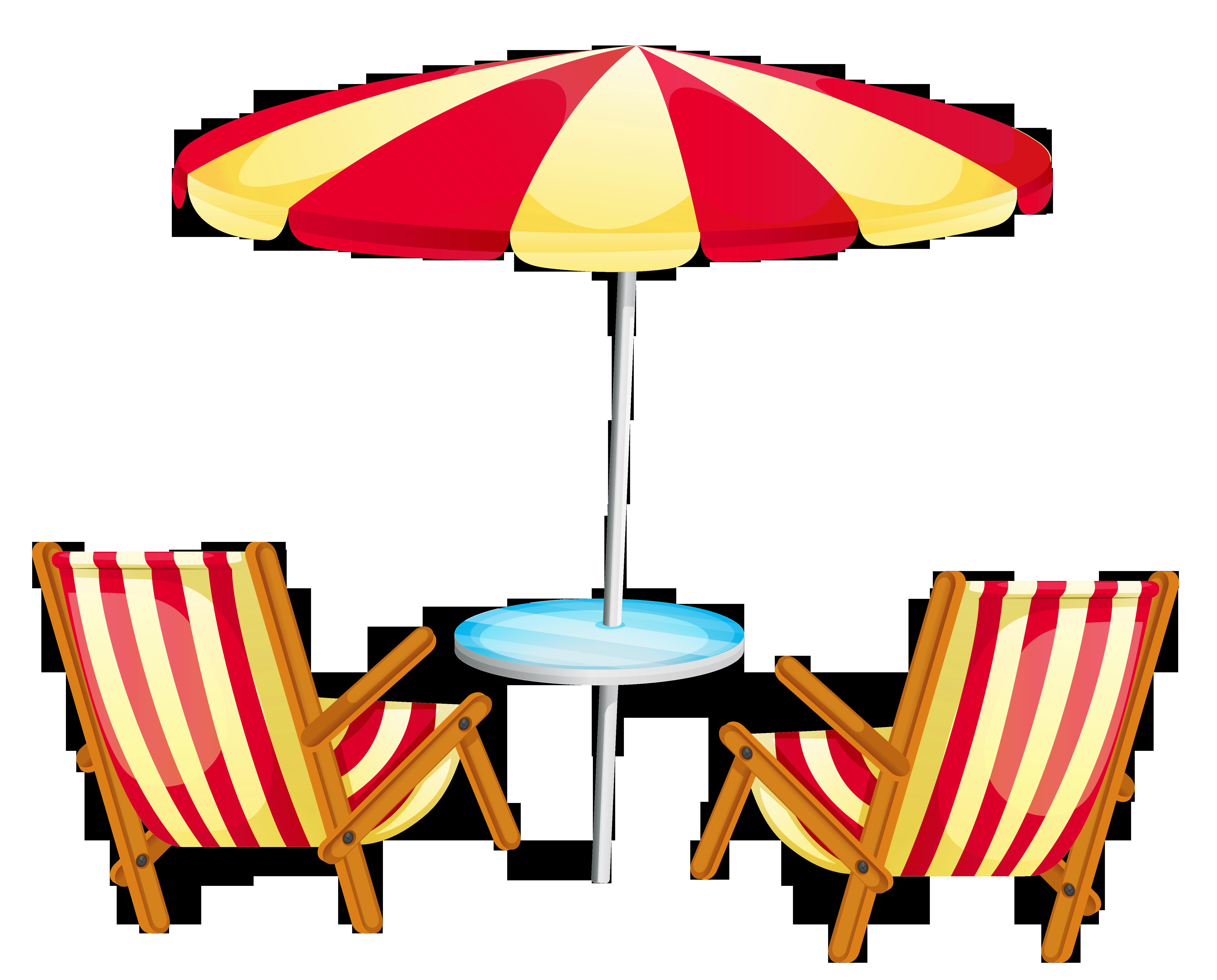 Beach chairs clipart.