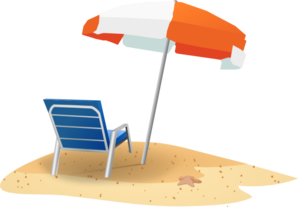 Beach Chairs Clipart.
