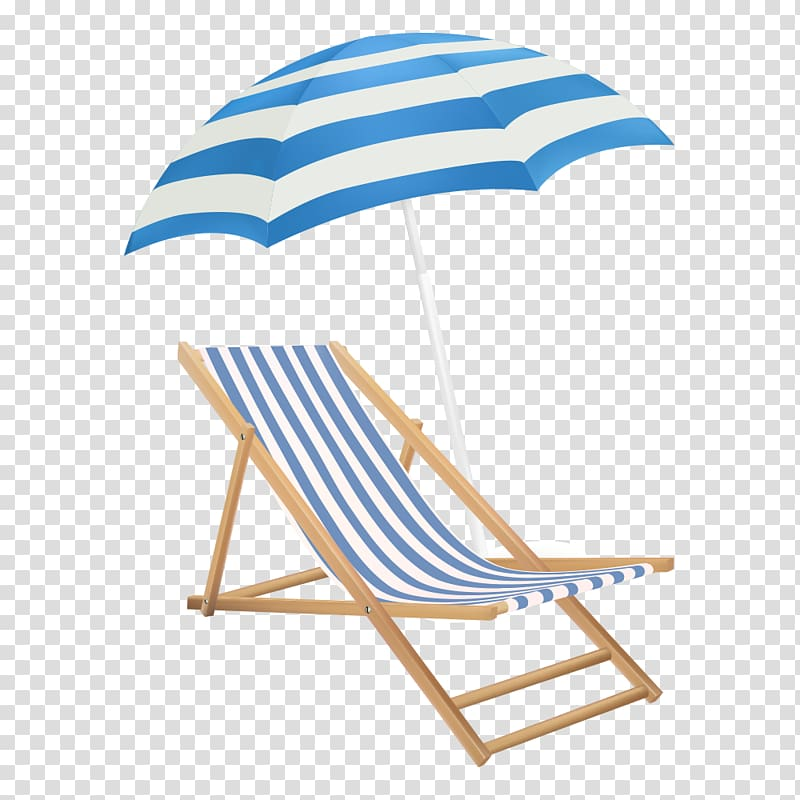 Brown wooden folding beach chair with parasol, No. 14 chair.