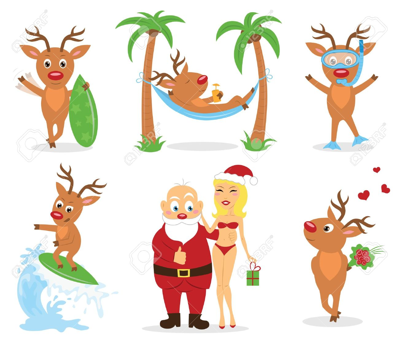 Free beach christmas clipart.