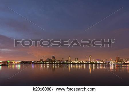 Picture of Long Beach City Lights k20560887.