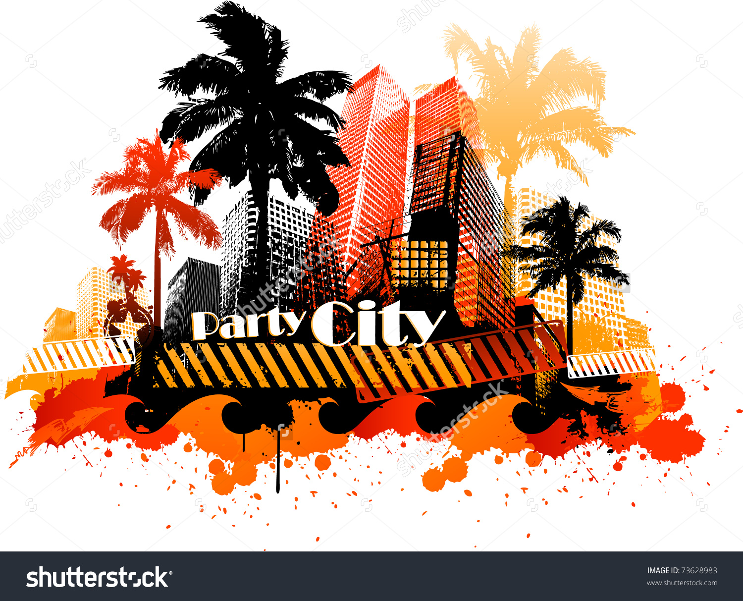 South beach images clipart.
