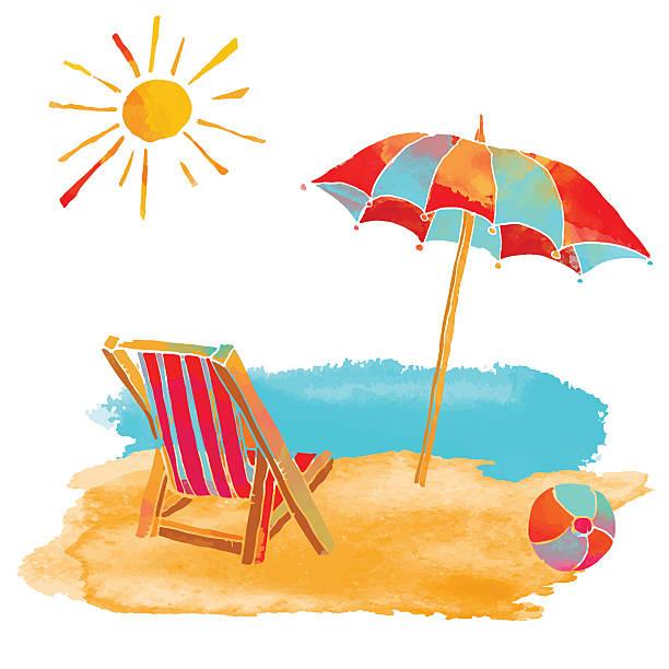Beach Vacation Clipart.