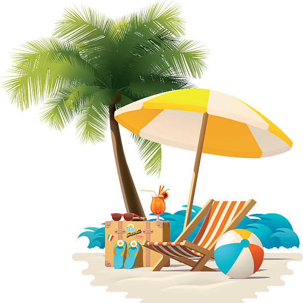 Best Beach Vacation Illustrations, Royalty.