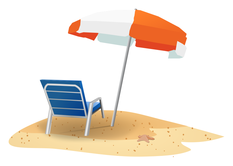 Beach Christmas Clipart.