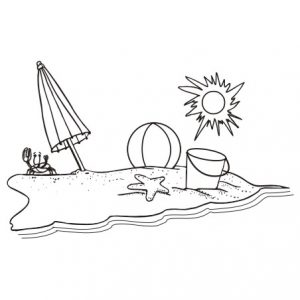 Black and white beach clipart 3 » Clipart Station.