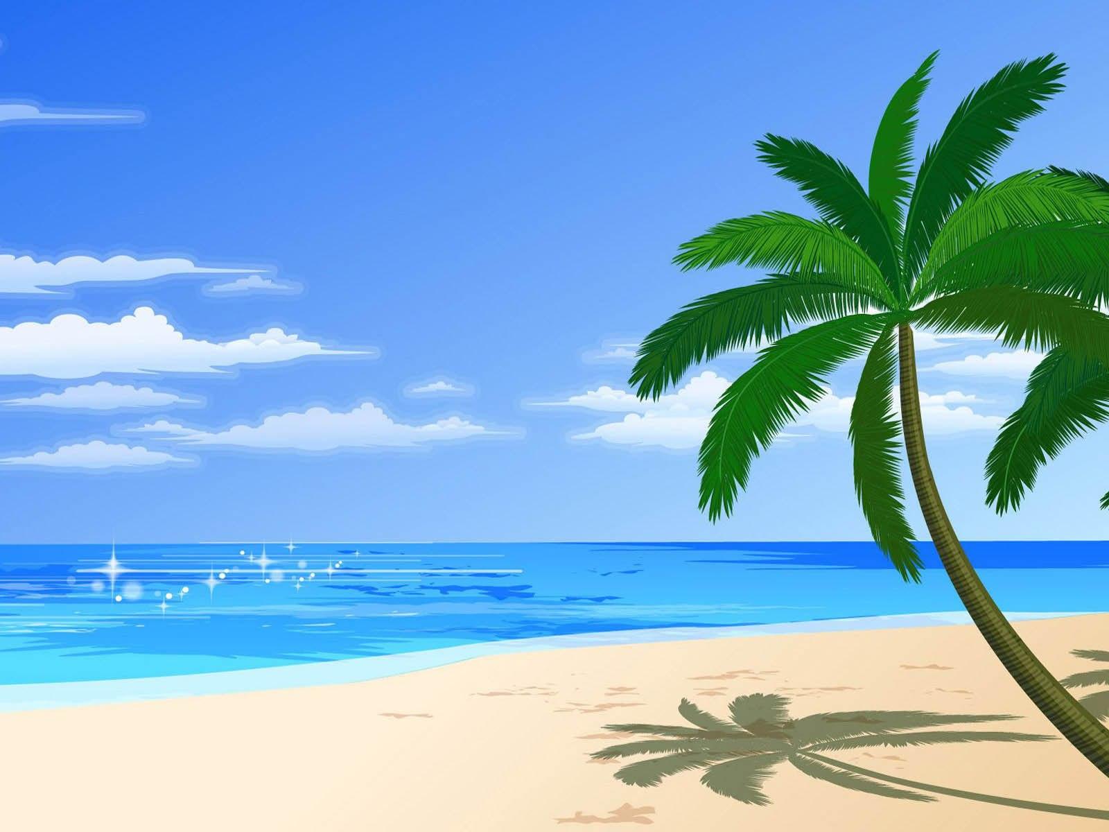 Beach clipart background 5 » Clipart Portal.