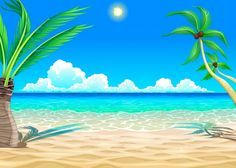Beach clipart background 4 » Clipart Portal.