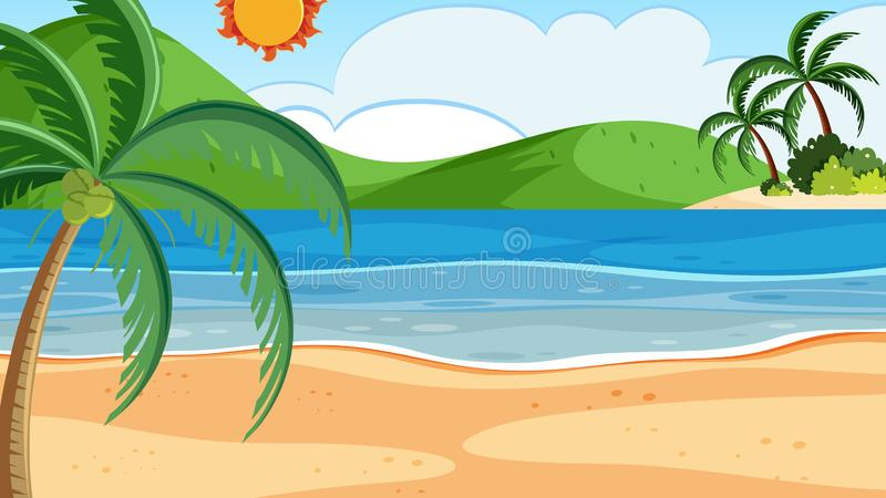 Beach Clipart Background Stock Illustrations.