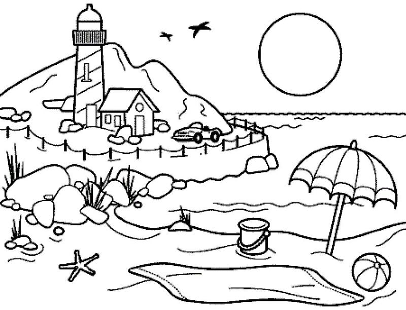 Beach clipart black and white, Picture #86841 beach clipart.